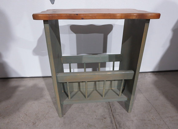 Small Painted Table / Magazine Rack