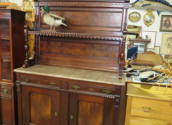 Antique Dining Room Buffet w/ Marble Top