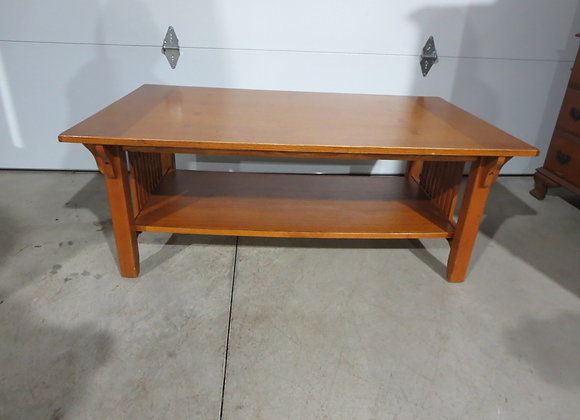 Large Oak Mission Coffee Table