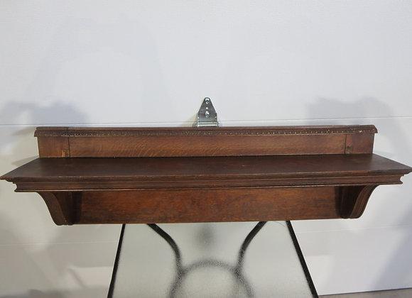 Vintage Large Oak Mantle Shelf