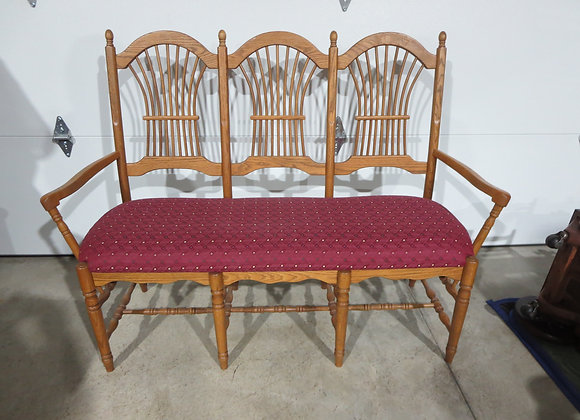 Oak Chair Bench Amish Made
