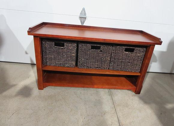 Entryway Bench w/ Baskets & Shoe Shelf