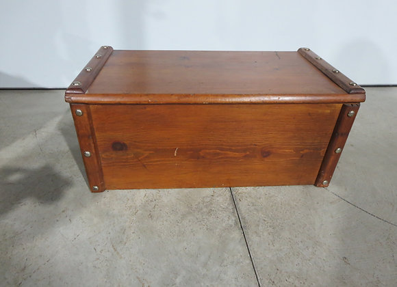 Vintage Pine Wood Toy Chest