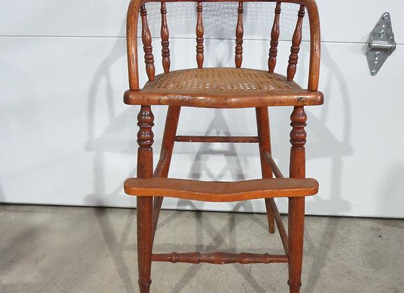 Vintage Oak Child's High Chair