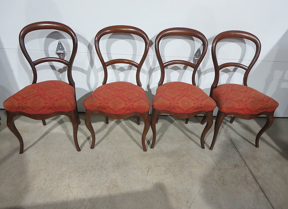 4 Vintage Dining Chairs