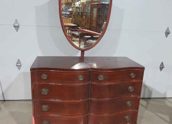 Williamsport Mahogany Dresser / Mirror French Provincial Project