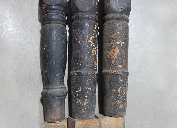 3 Vintage Salvaged Wood Legs
