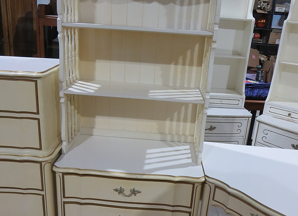 Dixie French Provincial 3 Drawer Chest w/ Book Shelf