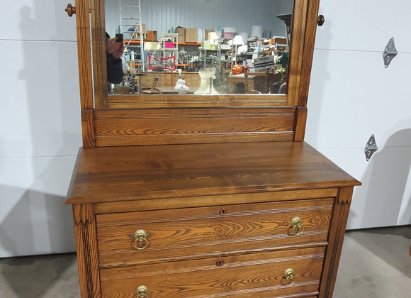 Vintage Restored Oak Dresser w/ Mirror