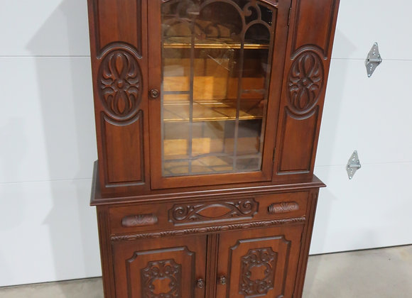 Vintage Wood China Cabinet / Hutch