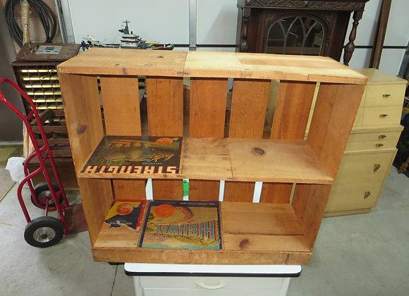 Shelf made with Orange Crates
