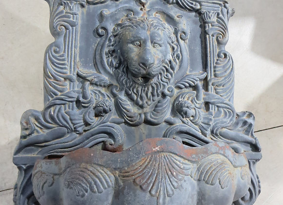 Large Wall Cast Iron Fountain Lion Angels