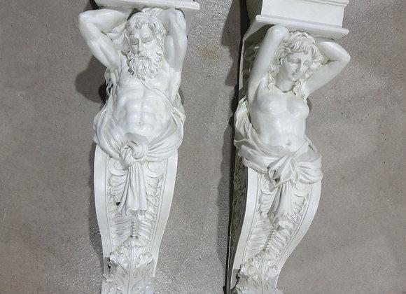 Design Toscano Telemon & Caryatid Wall Sculptures