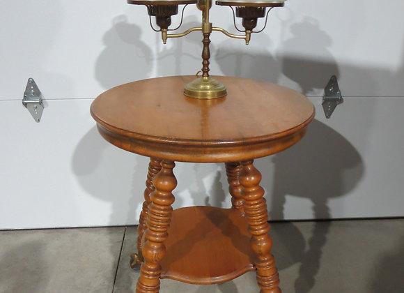 Vintage Round Oak Table