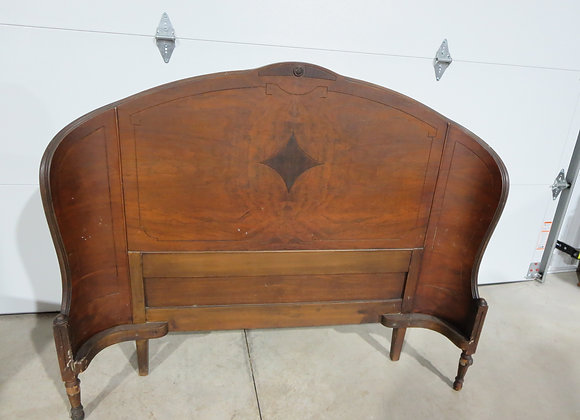 Vintage Full Size Curved Headboard