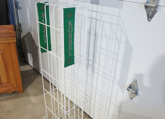 Korbel White Metal Wine Rack