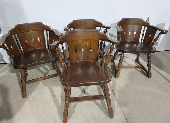 Vintage Pine Farm Table Chairs