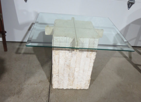 Stone Sculptured End Table