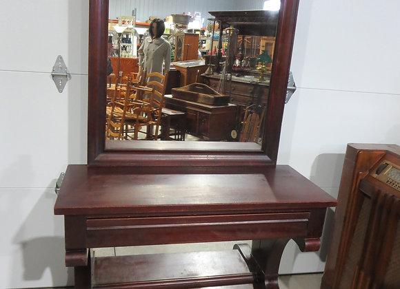 Vintage Empire Mahogany Pier Table + Mirror