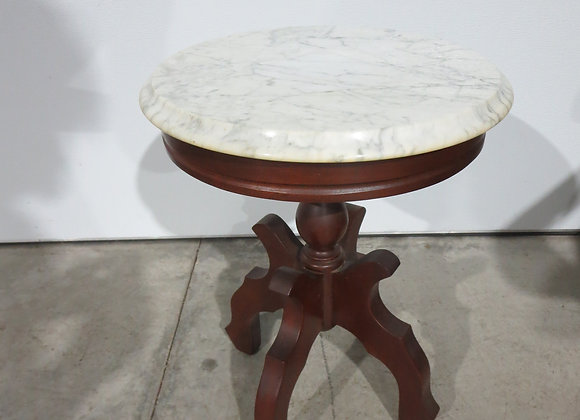 Round Marble Top Table / Plant Stand