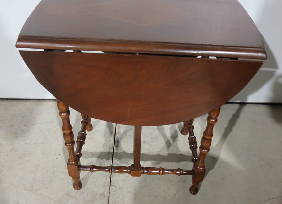 Small Inlaid Drop Leaf Table