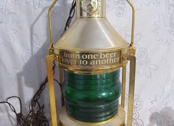 Vintage Stroh's Beer Light Revolving Lantern Hanging
