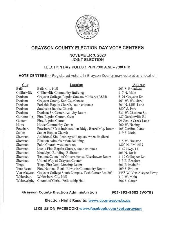 Grayson-County-Election-Day-Vote-Centers