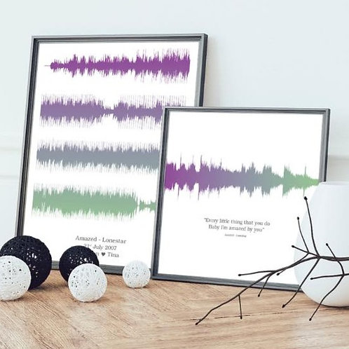 Sound Wave Song Print
