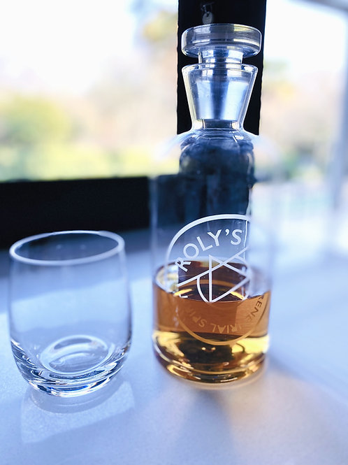 Personalised Glass Whiskey Decanter