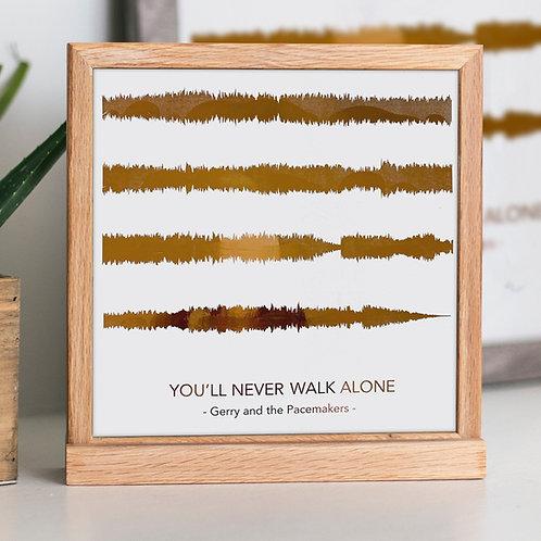 Metallic Sound Wave Song Print