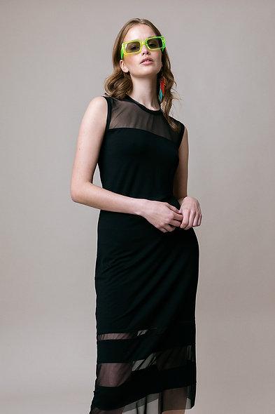 Black Tencel Jersey Dress