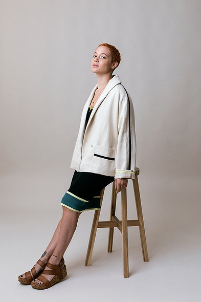 Hemp Denim Blazer Jacket