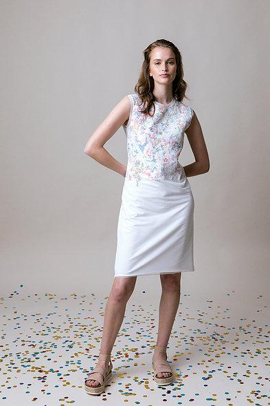 The CONFETTI-Dress Sleeveless White