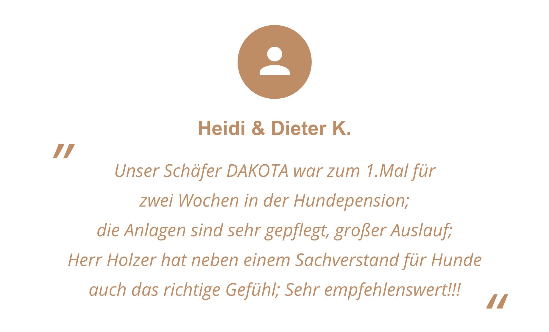 Feedback von Heidi und Dieter