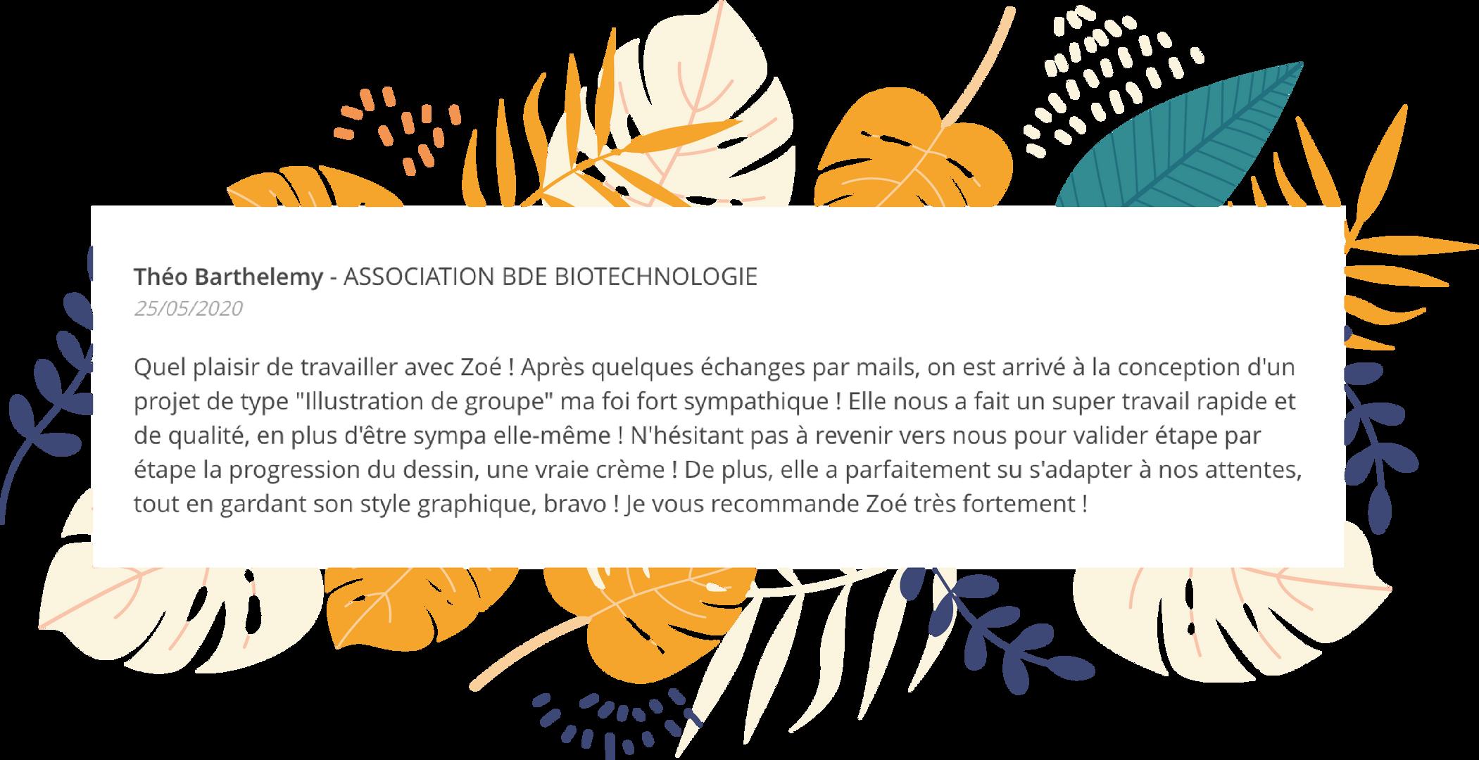 AVIS THEO - ASSOCIATION BDE BIOTECHNOLOG