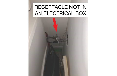 Receptacle Not In Electrical Box