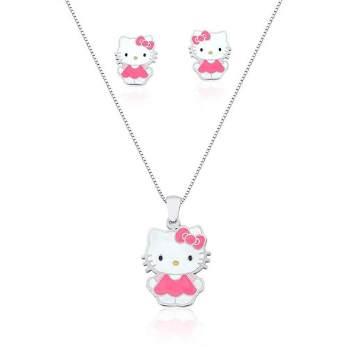 CONJUNTO HELO KITTY BRANCO E PINK