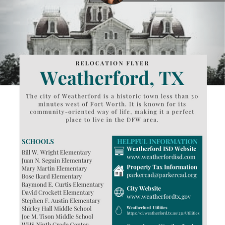 Quick Relocation Guide... to Weatherford, TX