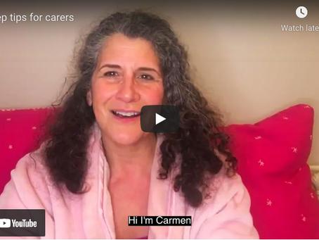Helping carers get a good night's sleep