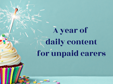A year of carer content