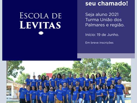 Escola de Levitas 2021: turma União dos Palmares e região