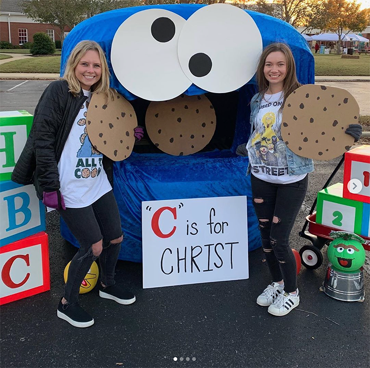 Christian ideas for church trunk or treat, cookie monster trunk or treat