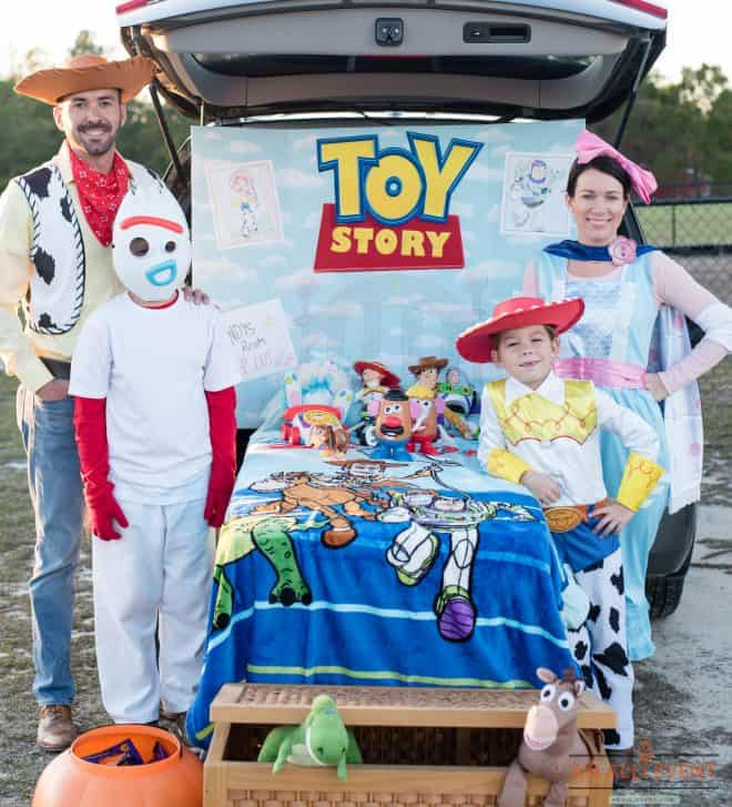 Christian ideas for church trunk or treat Toy Story