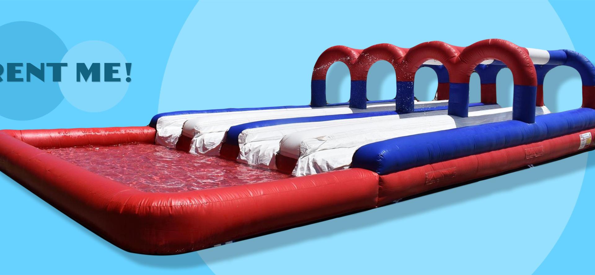 inflatble slip n slide with pool