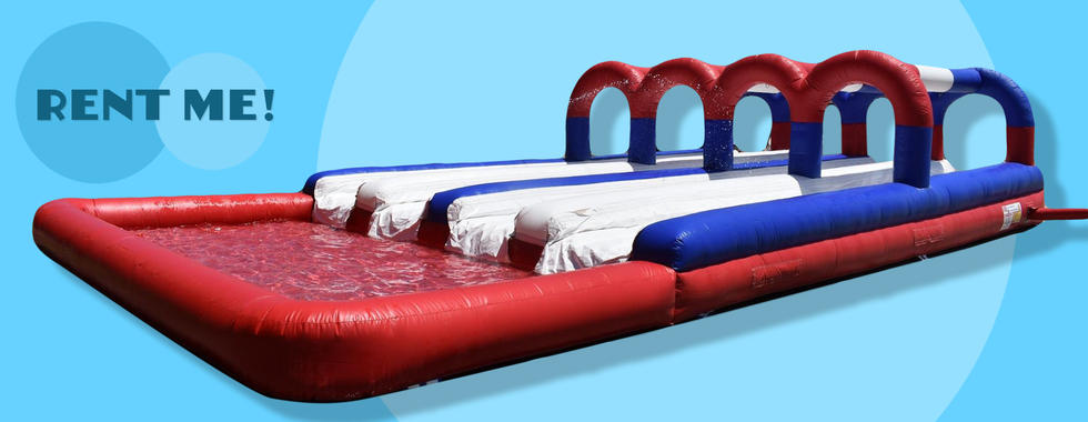 inflatble slip n slide with pool