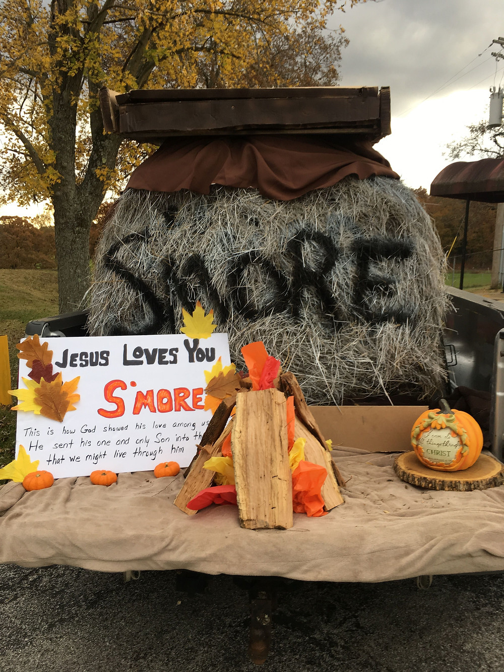 Christian ideas for church trunk or treat, S'more Jesus