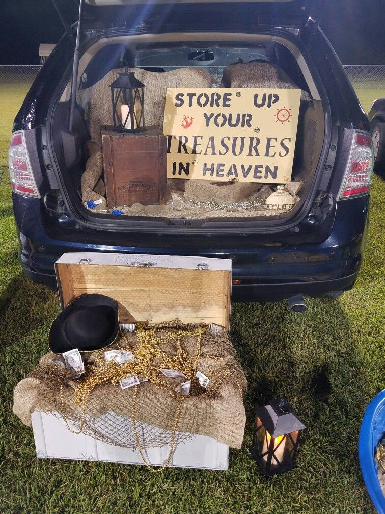 Christian ideas for church trunk or treat, pirates and treasure