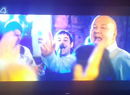 Band's cameo appearance on E4 TV show tattoo fixers.