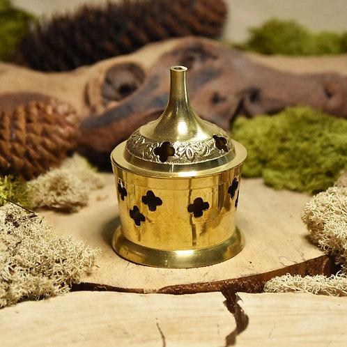 Encensoir en laiton, forme cylindrique