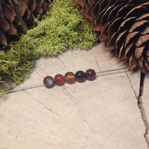 Perle agate 6 / 6.5mm